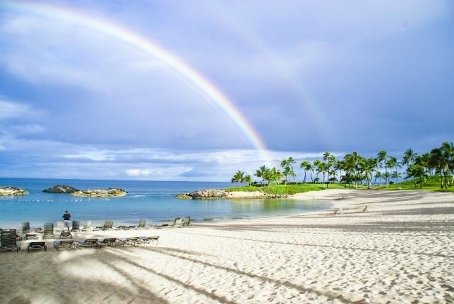 幸福を表す虹