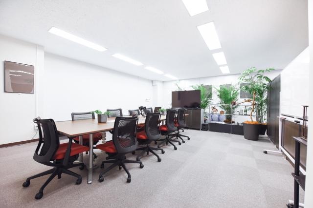 会議室に飾った観葉植物