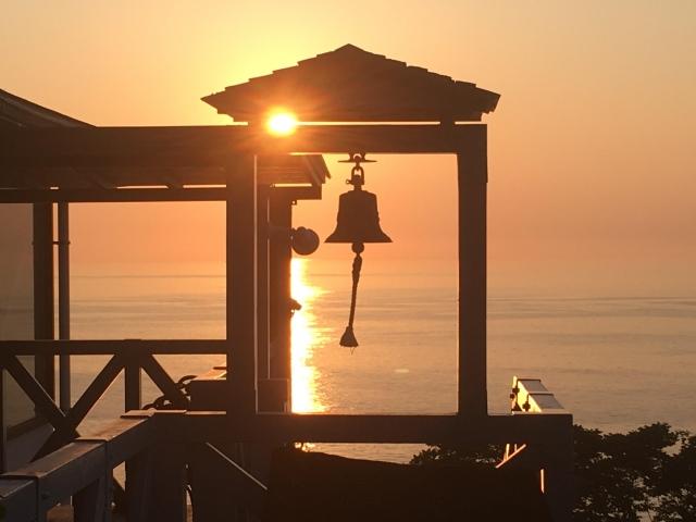永久を想起させる夕日