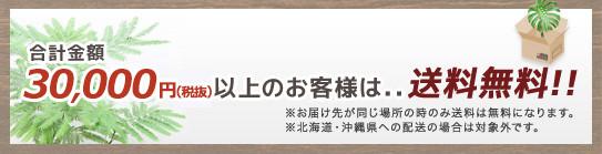 合計金額30,000円(税抜)以上のお客様は、、送料無料!!